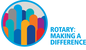 Logo for Rotary International's 2017/18 theme - Rotary Making A Difference
